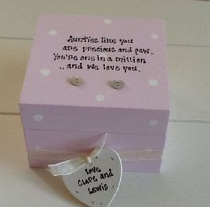 Shabby Personalised Chic Gift Auntie Aunty Aunt Great Auntie Trinket Box Mum